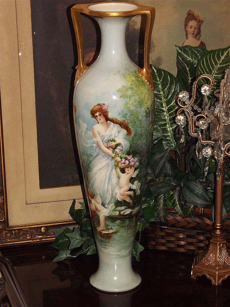 Massive Willets Belleek 22 25 Quot Floor Vase Lovely Maiden