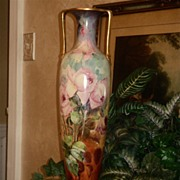 Royal Bonn Enormous HP Vase with Gorgeous Roses