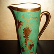 Limoges Rare Stouffer Studio Decorated Pitcher Signed Pickard Artist Lob