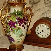 Fabulous Limoges Large Double Handled Vase with Grapes