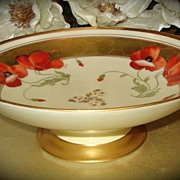 Limoges Poppy Compote Decorated by Pickard Artist Fuchs