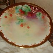 Wonderful Pickard Plate wih Raspberries Signed Kiefus