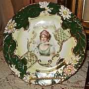 Rare and Gorgeous Prussia Steeple Mark Plate Queen Louise