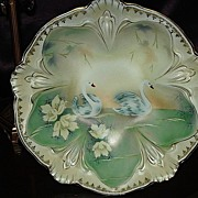 Prussia Red Mark Bowl with Stylized Swans