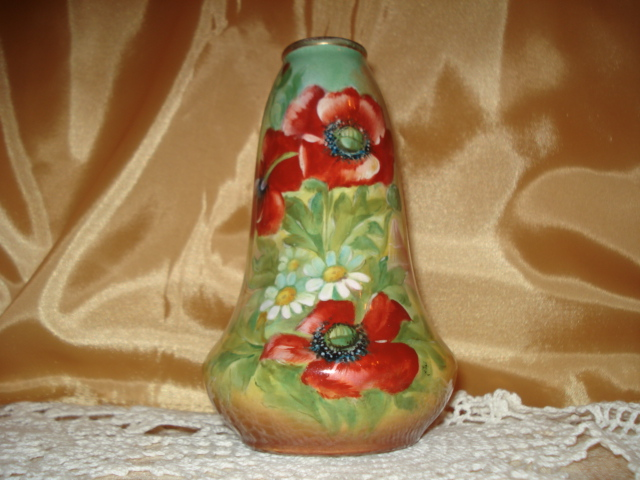 Royal Bonn Vase With Vibrant Poppies