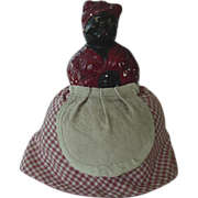 Black Americana Mammy Chalkware Pin Cushion Doll