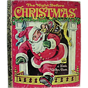 Golden Book The NIght Before Christmas 1981