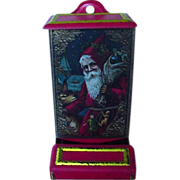Vintage Match Holder With Old World Santa On Front