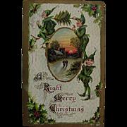 Christmas Elves Dressed In Green Postcard Gottschalk Dreyfuss & Davis