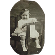 Black Americana Rppc Real Photo Cute Baby
