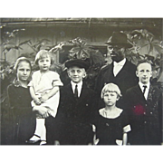 Black Americana Rppc Postcard Man And His Family Wife And Four Children