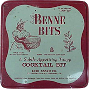 Black Americana Advertising Tin Benne Bits Appetizers Mammy On Front