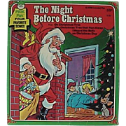 The Night Before Christmas Peter Pan Record 1970s Record Cover Art By George Peed