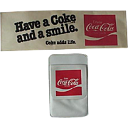 Coke Cola Soda Jerk Hat And Route Driver Pocket Pen Holder 1970s Vintage Lot Of 2 Items