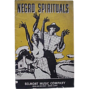 Black Americana Negro Spirituals Booklet By Belmont Music Company 1937 - Red Tag Sale Item