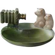 Germany Fairing Pink Pig Pigs  Posing In Front Of Camera Pin Dish