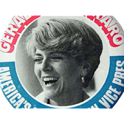 Graldine Ferraro Political Button