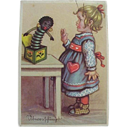German Black Americana Girl With Jack In The Box