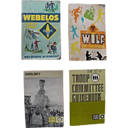 Boy Scout Geology Merit Badge Webelos Wolf Troop Committee GuideBook Lot Of 4