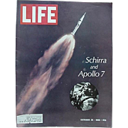 Life Magazine Apollo 7 Astronaut Wally Schirra Cover October 25, 1968 And Happy 40th Mickey