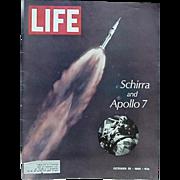 Life Magazine Apollo 7 Astronaut Wally Schirra Cover October 25, 1968 And Happy 40th Mickey