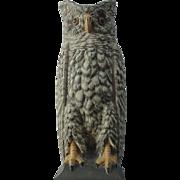 Bradley And Hubbard Owl Cast Iron Doorstop Door Stop 1920s