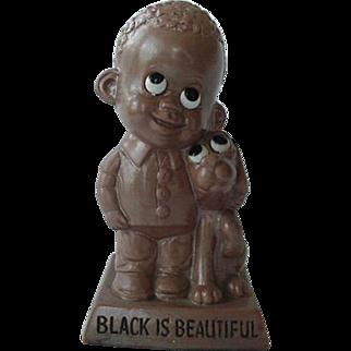 Black Americana Russ Berrie & Co 1970 Black Is Beautiful Figurine Figural