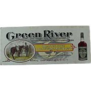 Black Americana Green River Advertising Ink Blotter