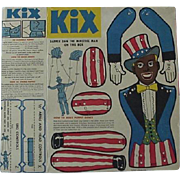 Black Americana Kix Cereal Dapper Dan The Minstrel Man Cut Out Puppet 1950's