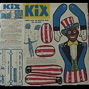 Black Americana Kix Cereal Dapper Dan The Minstrel Man Cut Out Puppet 1950's
