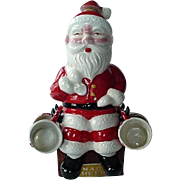 Santa Claus Decanter Set With Four Cups 1950s Made In Japan