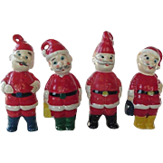 Ceramic Santa Ornament Ornaments Lot Of 4 Cutest Faces