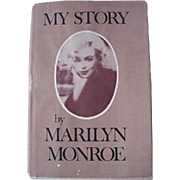 Marilyn Monroe My Story Hardcover Book With Dust Cover 1974