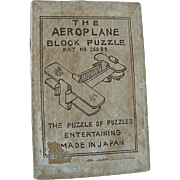 The Airplane Block Puzzle Pat No 35588 Made In Japan