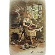 Cinderella Fairly Tale Incised Postcard Printed in Germany - Red Tag Sale Item