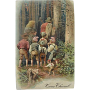 Tom Thumb Incised Fairy Tale Postcard
