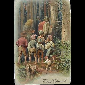 Tom Thumb Incised Fairy Tale Postcard