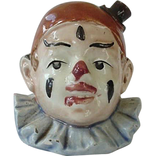 Majolica Clown Bank Wearing Top Hat