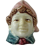 Man With Pink Hat Majolica Bank