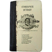 Black Americana Little Satin Finish Carbon Stenographers Dictionary