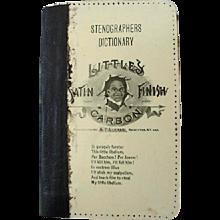 Black Americana Little Satin Finish Carbon Stenographers Dictionary