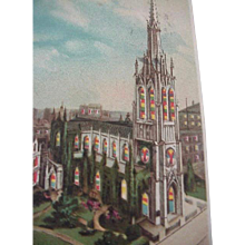 Grace Church NY Hold To Light Postcard 1907