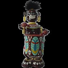 Louis Marx Native Tom Tom Jungle Boy Drummer Tin Black Americana Toy 1967