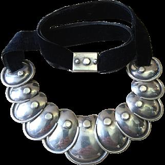 Rare Vintage Armadillo Necklace by Hector Aguilar Taxco Mexico c 1950