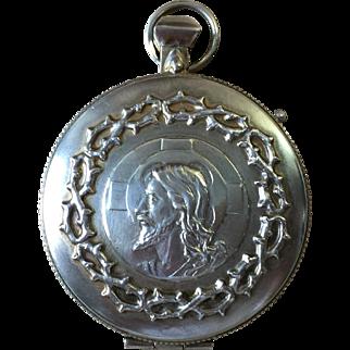 PYX Catholic Priest Communion Wafer Host Holder Locket Sterling Silver