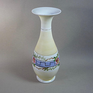 Victorian Hand Blown Bristol Glass Vase
