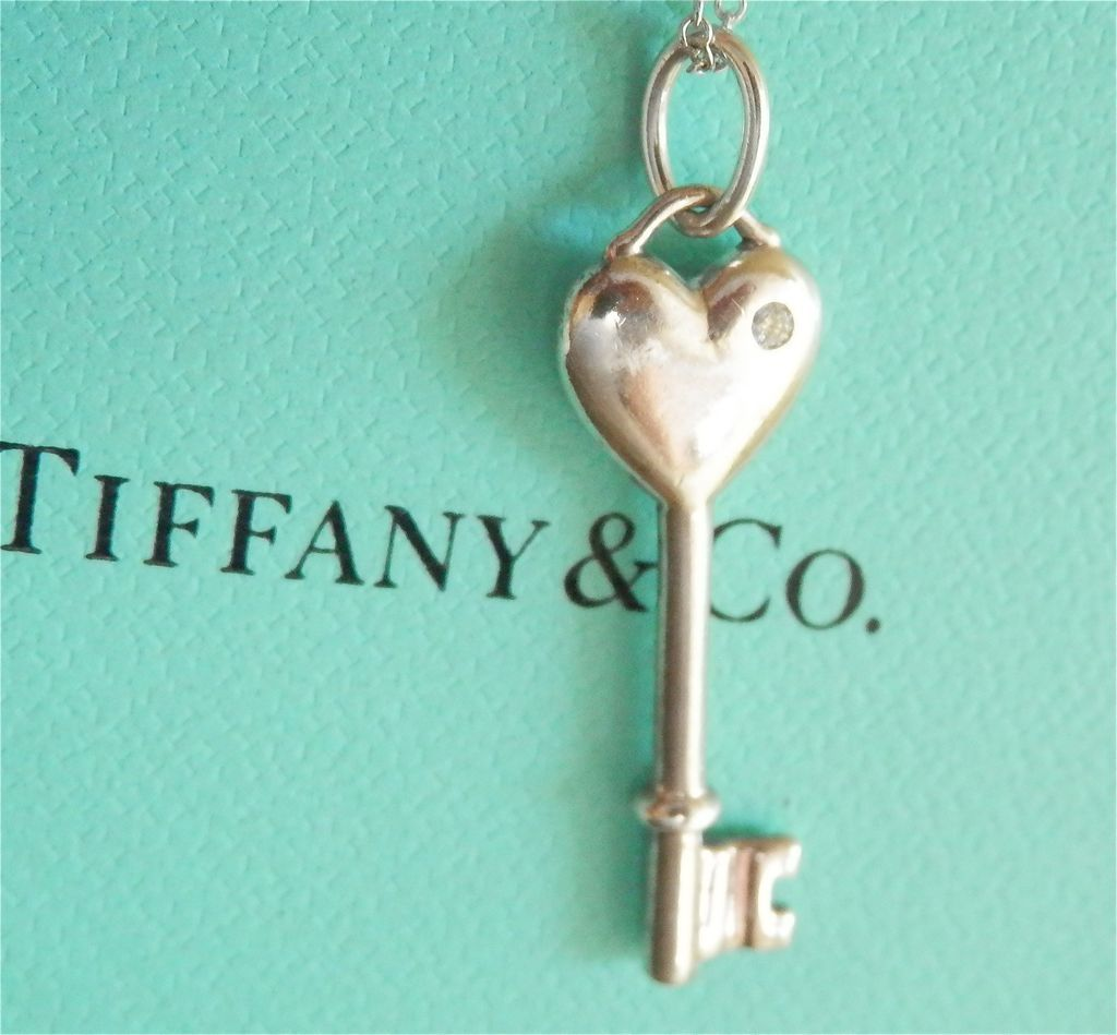 Final markdown lovely tiffany co silver diamond heart key roll over large image to magnify click large image to zoom aloadofball Image collections