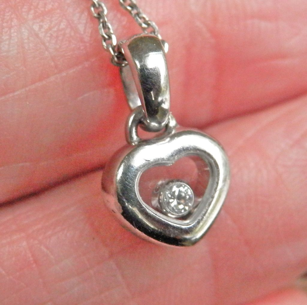 Final markdown 18k white gold chopard happy diamonds heart 18k white gold chopard happy diamonds heart pendant bird on a wire antiques ruby lane aloadofball Choice Image