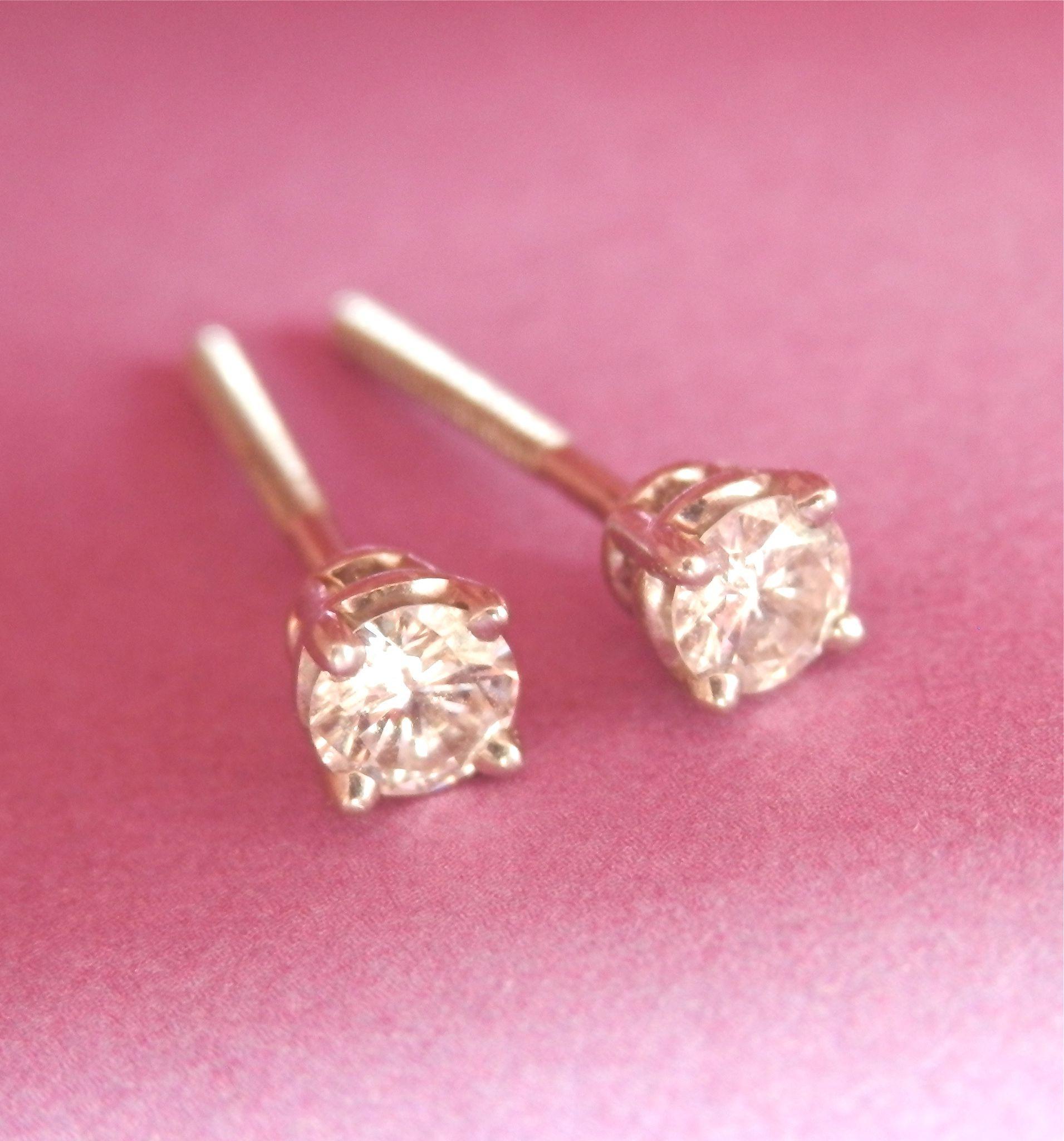Beautiful Tiffany & Co 0 25 Ctw Diamond 950 Platinum Stud