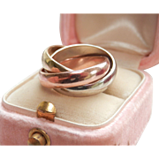 Final Markdown! Heavy 14K Tri-Gold Trinity Rolling Ring ~ 9.1 grams
